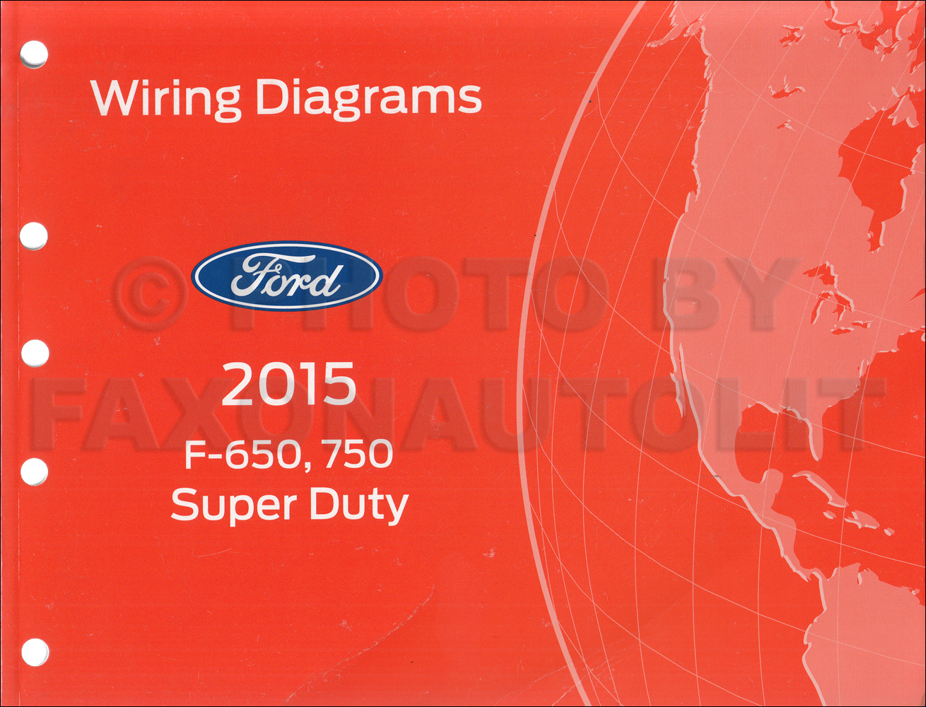2015 Ford F650    F750 Factory Wiring Diagram
