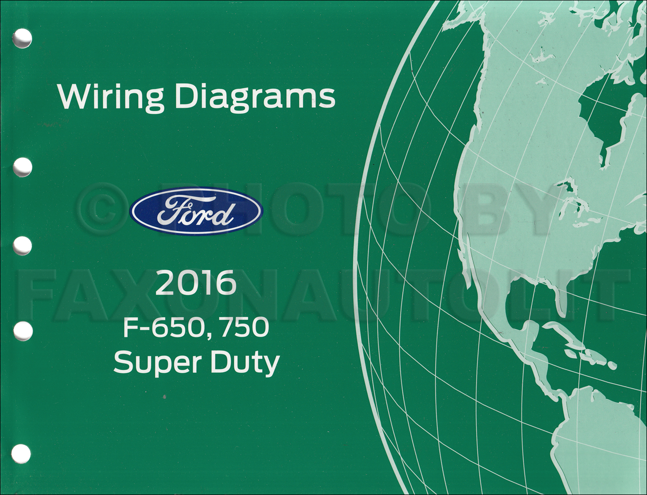 2016 Ford F650    F750 Factory Wiring Diagram
