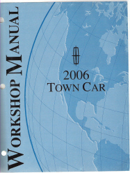 2006 lincoln town car workshop manual. Black Bedroom Furniture Sets. Home Design Ideas