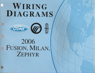 2006 ford fusion mercury milan lincoln zephyr wiring diagrams rh auto repair manuals com 1996 Mercury 50 Wiring Diagram Mercury 150 Wiring Diagram