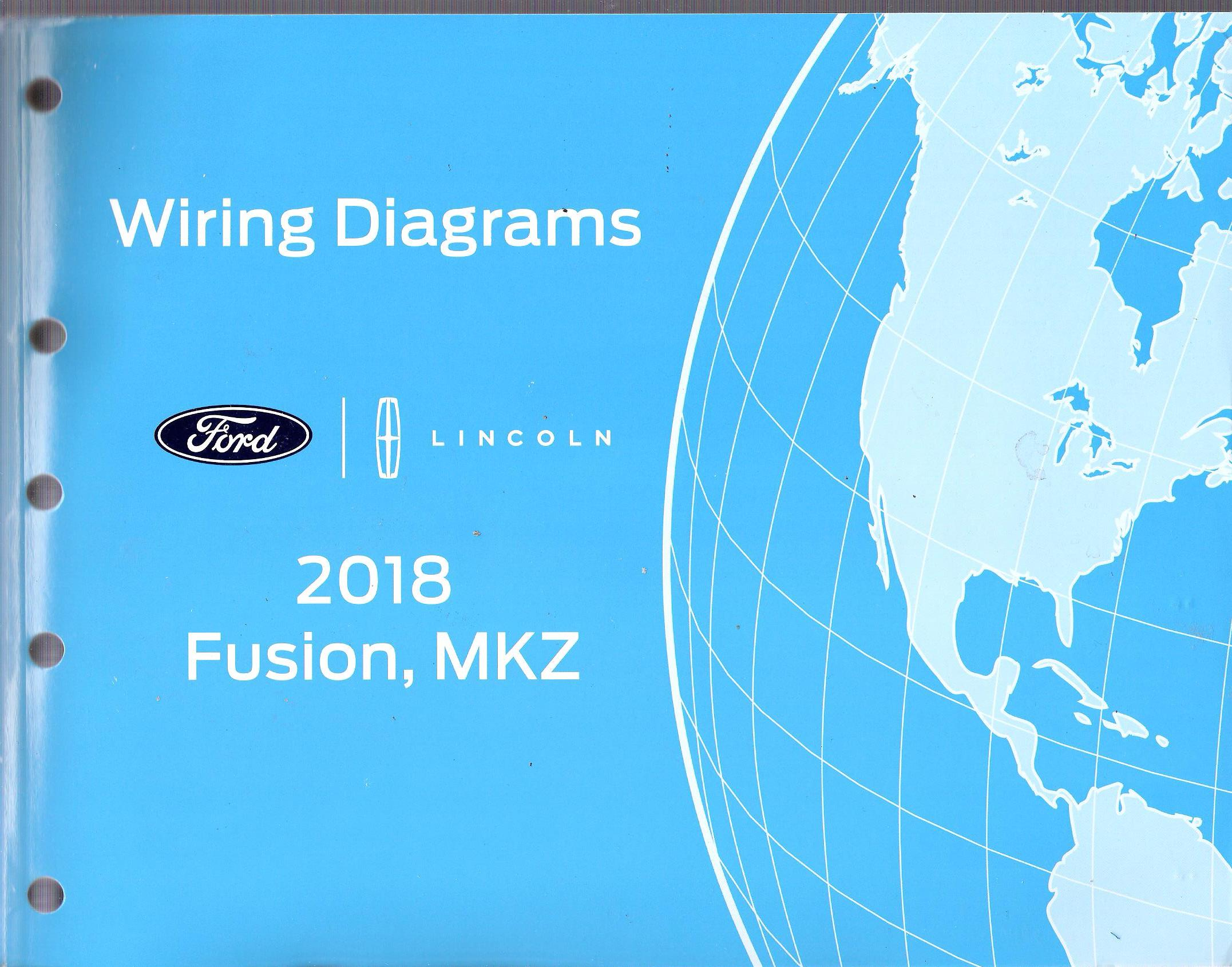2018 Ford Fusion  Lincoln Mkz Factory Oem Wiring Diagrams Manual