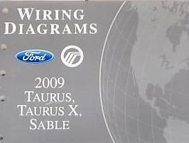 2009 Ford Taurus Taurus X Mercury Sable Factory Wiring Diagrams Manual