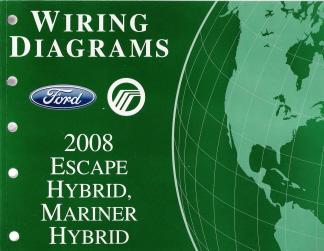 2008 ford escape hybrid \u0026 mercury mariner hybrid factory wiring diagrams 2003 Ford F-250 Wiring Diagram