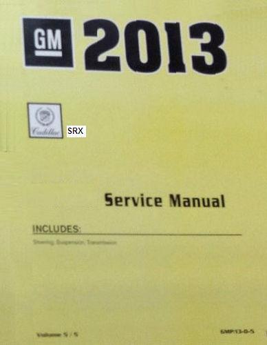 cadillac srx service manual