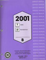 2001 pontiac aztek buick rendezvous factory service. Black Bedroom Furniture Sets. Home Design Ideas