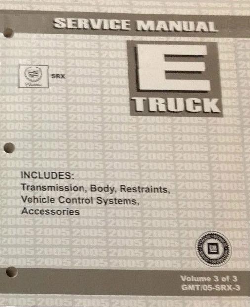 2005 cadillac srx factory service manual. Black Bedroom Furniture Sets. Home Design Ideas