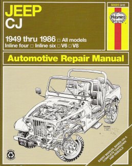 1949 1986 jeep cj repair manual haynes repair manual rh auto repair manuals com 1986 Jeep Wrangler 1986 Jeep CJ5