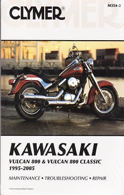 Kawasaki fours motorcycle repair service manuals 1995 2005 kawasaki vulcan 800 vulcan 800 classic clymer repair manual fandeluxe Image collections