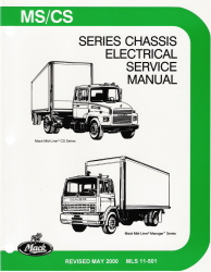mack truck mid liner ms cs chassis electrical wiring factory service manual