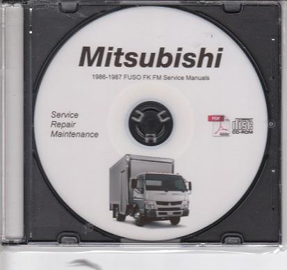 1986 1987 mitsubishi fuso fk fm 6d14 6d14t truck service manual cd rom rh auto repair manuals com Car Motor Repair Manual ABB Manual Motor
