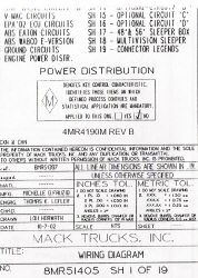 2003 - 2004 Mack Wiring Diagram Chassis Series RB - RD - DM