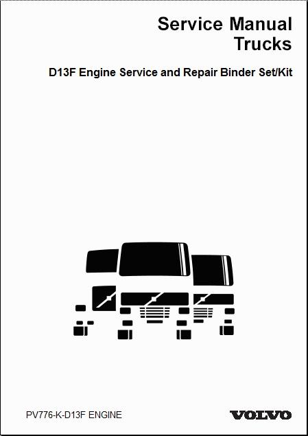 volvo truck d13f engine service and repair manual 2 volume set rh auto repair manuals com Cummins Engine Parts ISX Cummins Shop Manual