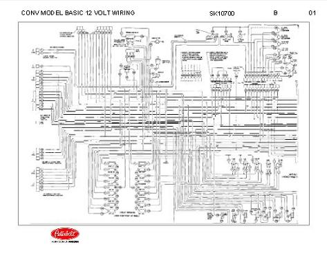 peterbilt 348 conventional models basic 12 volt wiring diagram schematic