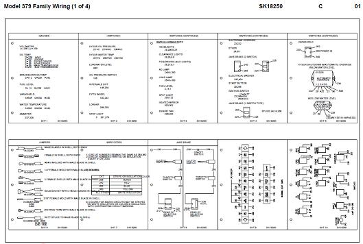 SK18250 1970 1997 peterbilt 379 family (357, 375, 377, 378, 379) with Panasonic Wiring Harness Diagram at soozxer.org