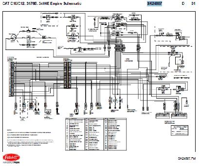 Caterpillar C10 C12 3176B 3406E Engine Wiring Diagram Schematic on power wiring diagram