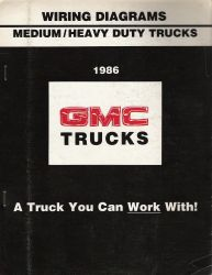 1986 chevrolet gmc medium heavy duty truck wiring diagram booklet