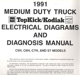 1991 Gmc Topkick Kodiak Medium Duty Trucks C5h C6h C7h S7 Models Electrical Diagnosis Wiring Diagrams