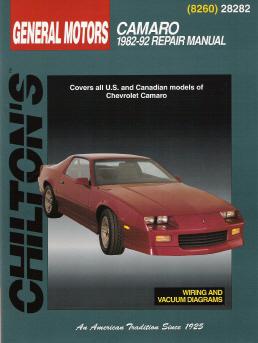 1982 1992 chevrolet camaro chilton 39 s total car care manual. Black Bedroom Furniture Sets. Home Design Ideas