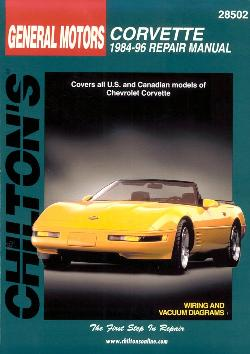 1984  1996 Chevrolet Corvette Chilton s Total Car Care Manual