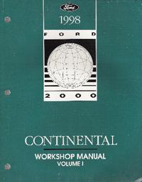1998 lincoln continental factory workshop manual 2. Black Bedroom Furniture Sets. Home Design Ideas