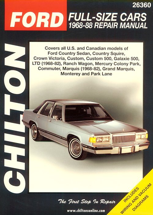 1968 1988 ford mercury full size cars chilton s total
