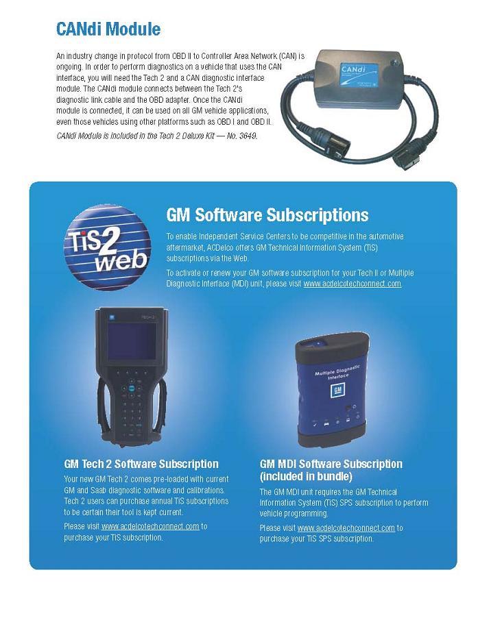 OTC GM Tech 2 Scanners