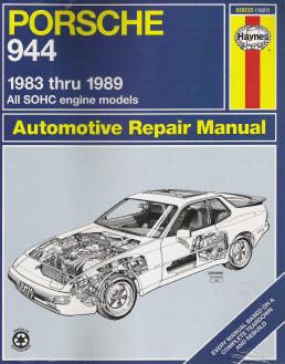 1983 1989 porsche 944 haynes repair manual. Black Bedroom Furniture Sets. Home Design Ideas