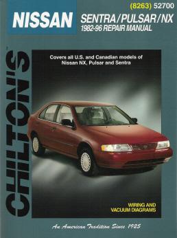 1982 1996 nissan sentra pulsar nx chilton 39 s total car. Black Bedroom Furniture Sets. Home Design Ideas