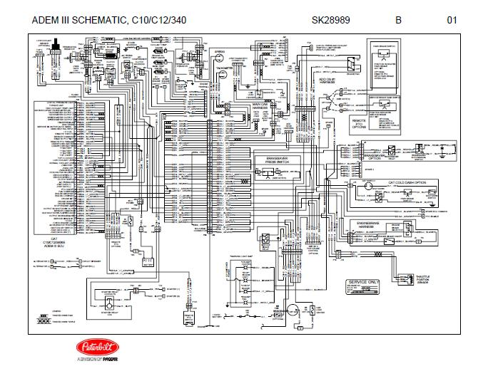 sk28989 caterpillar adem iii (c10, c12, 3406e engines) complete wiring cat 3406 engine wiring diagram at edmiracle.co