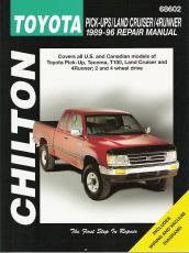 1989 1996 toyota pick ups land cruiser  4runner  chilton Transit Manuals Bus Speciufication M1aintenance chilton heavy duty truck repair manual