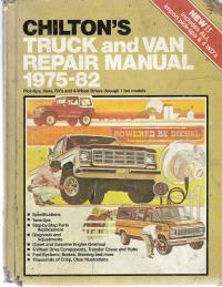 1975 1982 chilton s truck   van repair manual Service Manuals 2980 X Weight System Manual